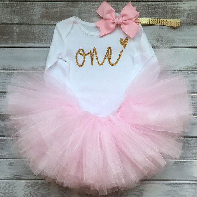 16 88 Cotton Baby Girls Clothes 1 Year 1st Birthday Dress Party