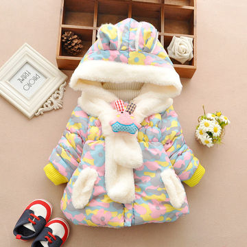 c848cbd99a74  21.15 Cute Rabbit Baby Winter Jacket Thick Cotton-Padded Baby Girl  Outerwear Infant Baby Boys Parka Toddler Girls Snow Wear Baby Coat