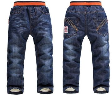 bd7bd65aa $20.90 DK0050 Free shipping top quality thick winter cashmere kids pants  warm boys jeans children trousers retail