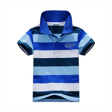 f483fb1e $11.84 Fashion Summer Baby Boys Short Sleeve T Shirt Kids Tops Striped Polo  Shirt Tops