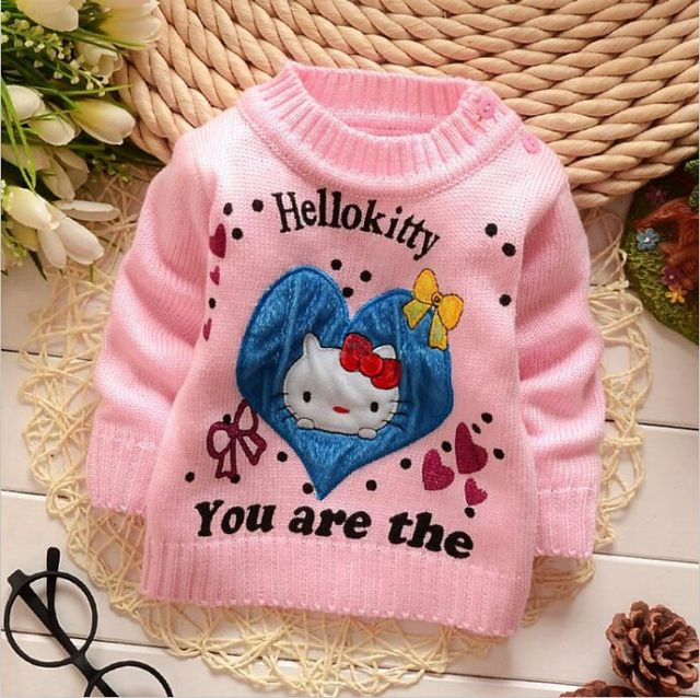 1780 Feather Long Warm Sweater For Girls Child Sweater Free