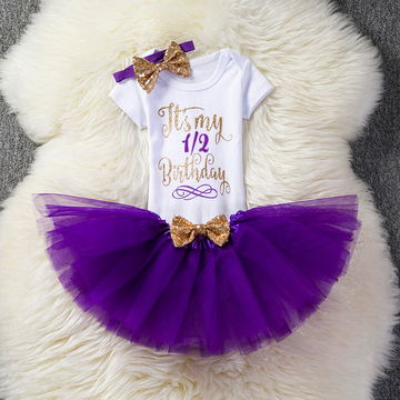 490d14764 £8.54 First 1st Birthday Outfits Baby Baptism Clothes Girl Party Wear Kids  Clothing 2 Years Tutu Infant Baby Girl Christening Suits