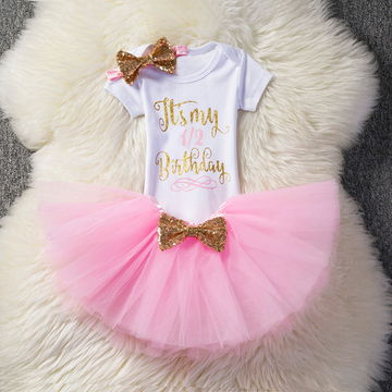 cb81efdbb $11.38 First 1st Birthday Outfits Baby Baptism Clothes Girl Party Wear Kids  Clothing 2 Years Tutu Infant Baby Girl Christening Suits