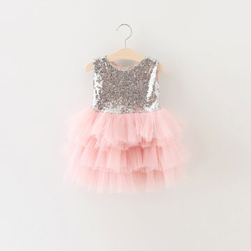 7d2ac9d4b4495 First Communion Baptism Birthday Baby Dresses for 1 2 years Infant Toddler  Newborn Clothes Tutu Sequins Summer Dresses for Girls