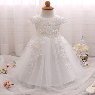 f78dd4270d18b $18.68 Flower Baby Girl 1 Year Birthday Party Dress Kids Clothes Girl  Infant Party Baby Baptism Christening Gowns Dress fantasia bebes
