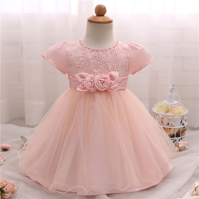 $18.68 Flower Baby Girl 1 Year Birthday Party Dress Kids Clothes ...