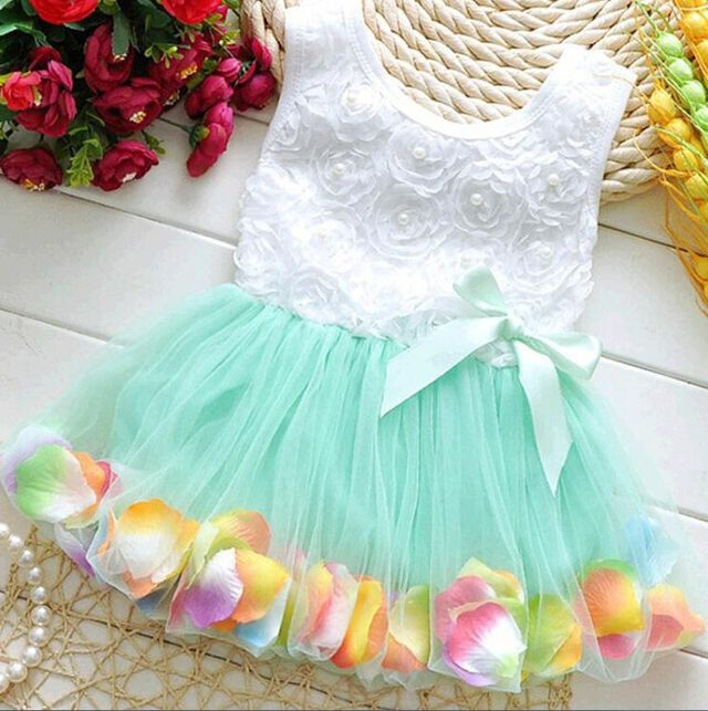 1107 Kids Girls Flower Dress Baby Girl Butterfly Birthday Party