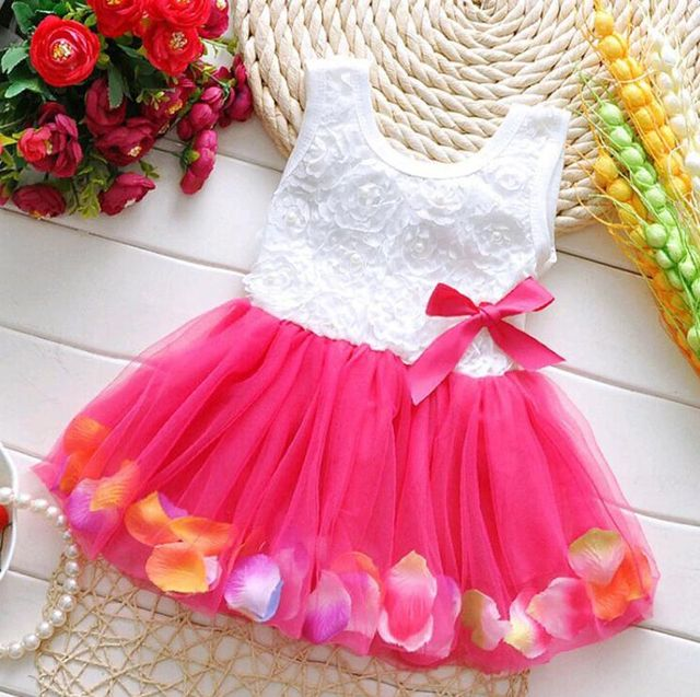 $11.07 Kids Girls Flower Dress Baby Girl Butterfly Birthday Party ...