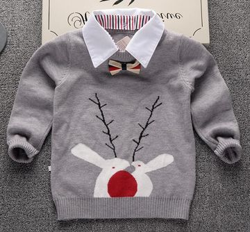 Knitted Sweater for boys 2019 Autumn Winter Boys Sweater Children  Turtleneck Christmas Sweaters Boy Pullover Kids clothing
