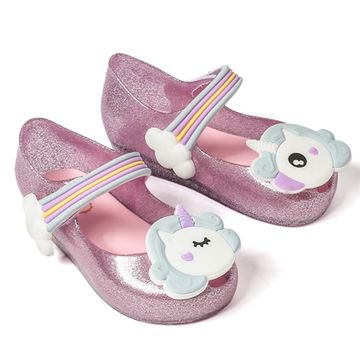 6084891d189 1  2  3  4  5  6  7. Mini Melissa 2019 Unicorn Shoes New Winter Jelly Shoe  Dargon Sandals Fish Mouth Girl Non-slip ...