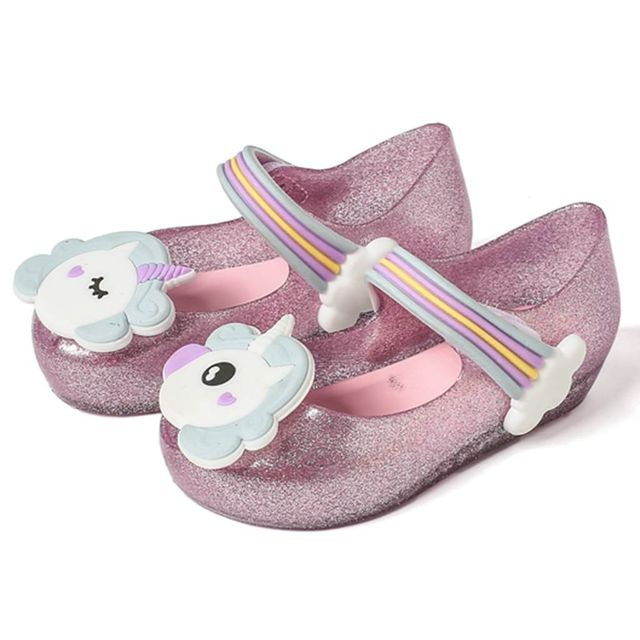 24490e16a60  18.18 Mini Melissa 2018 Unicorn Shoes New Winter Jelly Shoe Dargon Sandals  Fish Mouth Girl Non-slip Kids Sandal Toddler