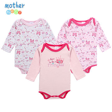 1a19d9c80f2d  18.84 Mother Nest 3 PcsLot Baby Romper Infant Romper Long Sleeve ...