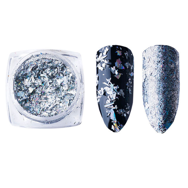 $4.69 Mtssii 6 Colors Mirror Glitter Silver Gold Nail Sequins ...