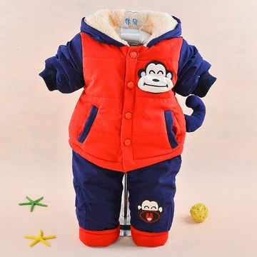 603d2184173c ... 31 90 New 2017 Baby boys winter clothing suit set warm down jacket