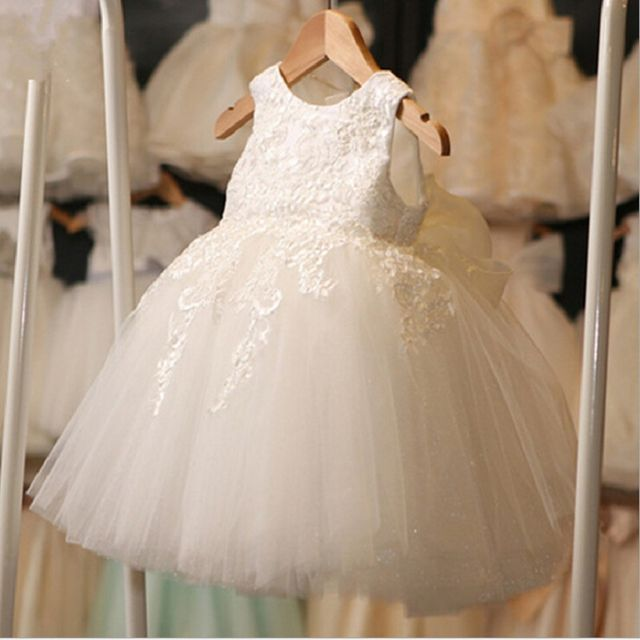$17.51 New Fashion Formal Newborn Wedding Dress Baby Girl Bow ...