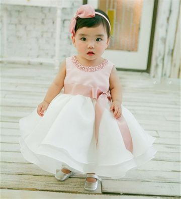 06f5560ec4c $16.96 New Infant Baby Girl Wedding Dress Baptism Christening Gown Pageant  Dress With Pearls Toddler Girls Princess Dress For 0-2 Years