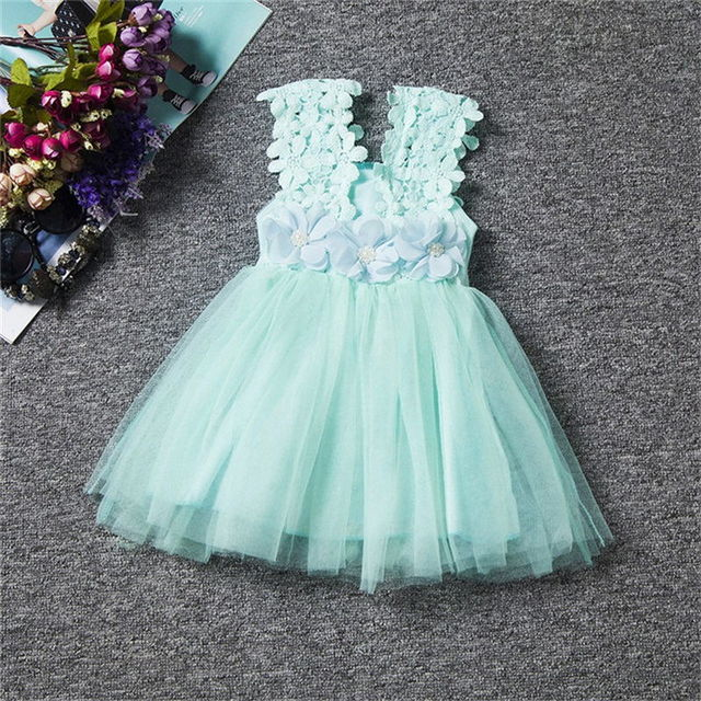 $12.20 New XMAS Baby Girls Party Lace Tulle Flower Gown Fancy ...