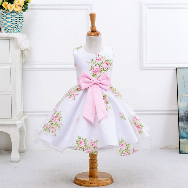 $20.17 Retail new style summer baby girl print flower girl dress for ...