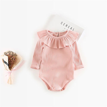 1507bda30c8a 14 87 Spring Autumn Baby Girl Knitted Rompers Princess Newborn Baby