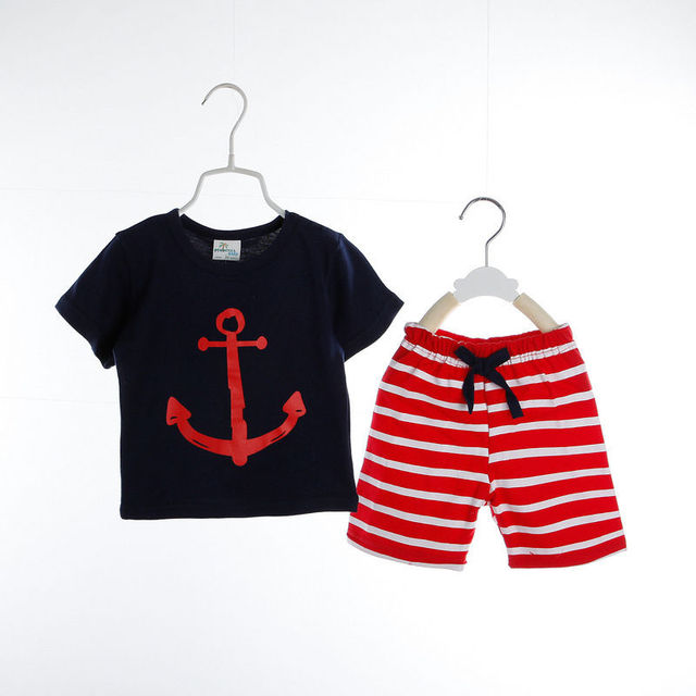 13 08 Summer Cool Baby Boy Clothes Set Toddler Kids Boys Children