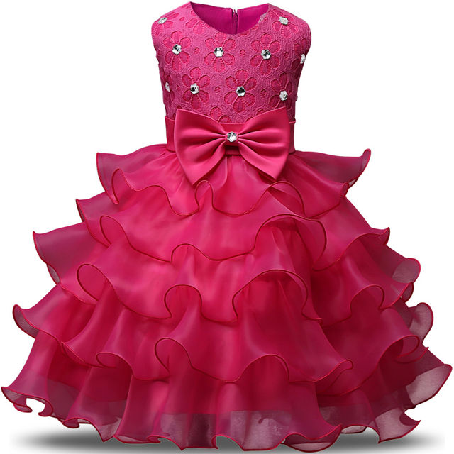 $18.88 Summer Flower Girl Dresses Tulle Kids Pageant Gowns ...