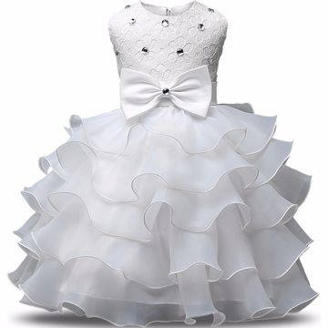 d49345fbcc91  18.98 Summer New Born Baby Girl Dresses Pearls Bow Multilayered ...