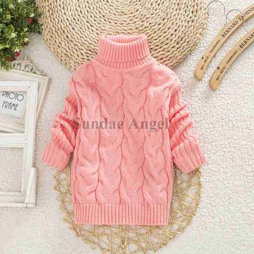 9413b272e  18.49 Sundae Angel Baby Girl Sweater Kids Boy Turtleneck Sweaters ...