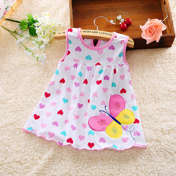 7adfc602b9b1  13.29 Super low Summer Infant Baby Girl dress 0-1-2 old girl baby princess  dress summer cotton vest