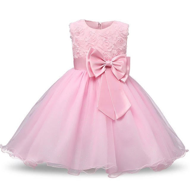 $18.98 Toddler Girl Baptism Dress Baby Girl 1 Year Birthday Dresses ...