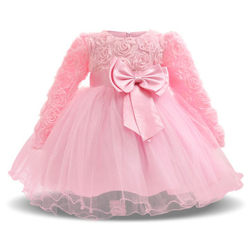 18.98 Toddler Girl Baptism Dress Baby Girl 1 Year Birthday Dresses For  Girls Kids Wedding Party Wear Newborn Baby Christening Gowns 2T cdb44c7f4e94
