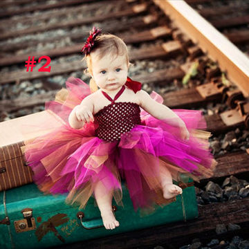 6d8be7208a29 NZ$24.99 Toddler Girls Fancy Princess Tutu Dress Holiday Flower Double  Layers Fluffy Baby Dress with Headband Photo Props TS044