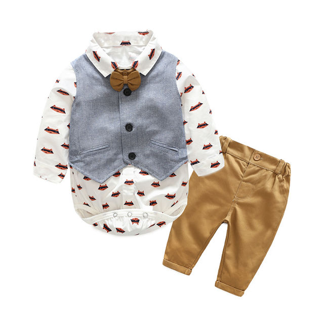 $22.04 Top and Top Autumn Fashion infant clothing Baby Suit Baby ...