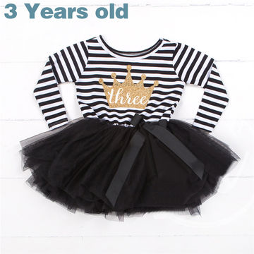 56b906cf3bd8 $15.28 Winter Baby Girl Baptism Dress Clothes For Newborn Infant 1 2 3 Year  Birthday Party Dress Gift Long Sleeve Striped Baby Dresses