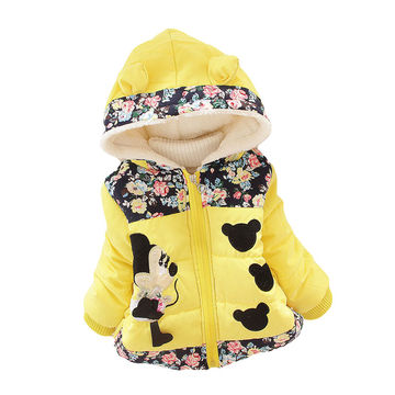 04b0b272ea1  20.85 Winter Baby Girls Coats Jackets Infants Outerwear Cotton Hooded Winter  Coats For Girls Clothes Down Jackets Kids Coat Clothing