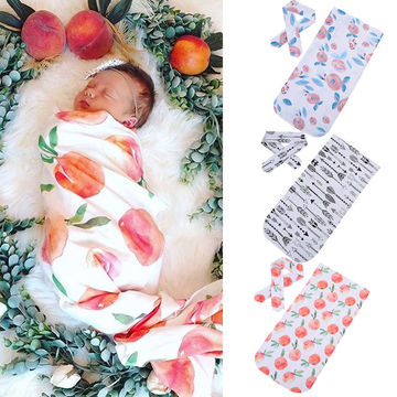 12 07 Newborn Baby Swaddle Wrap Cotton Blend Soft Infant Newborn