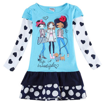 3ebe21e020  16.13 novatx 2019 newest design girls flower frocks children clothes hot  dresses baby dresses long sleeve baby clothes dress